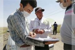 جمع آوری اطلاعات از مزرعه و ارائه مشاوره