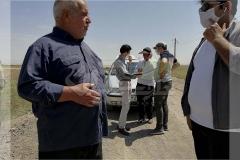 بازدید و مشاوره مزرعه یونجه، کلزا در تبریز
