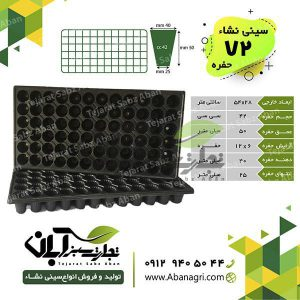 72 cell seedling tray
