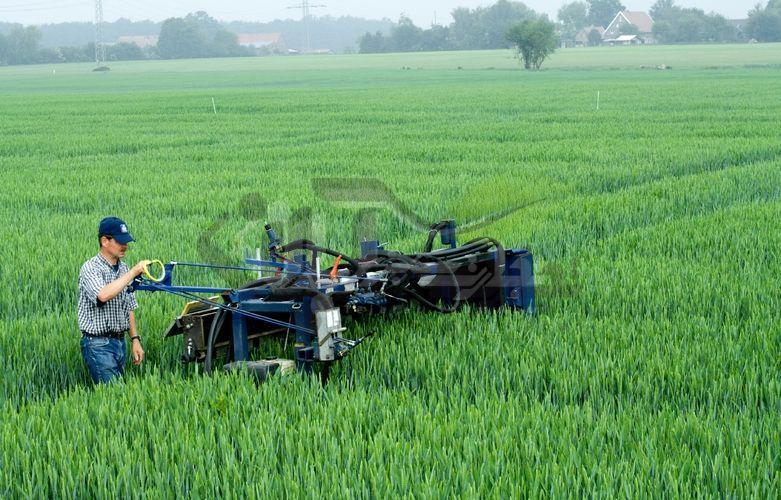 کوددهی با دستگاه در مزرعه