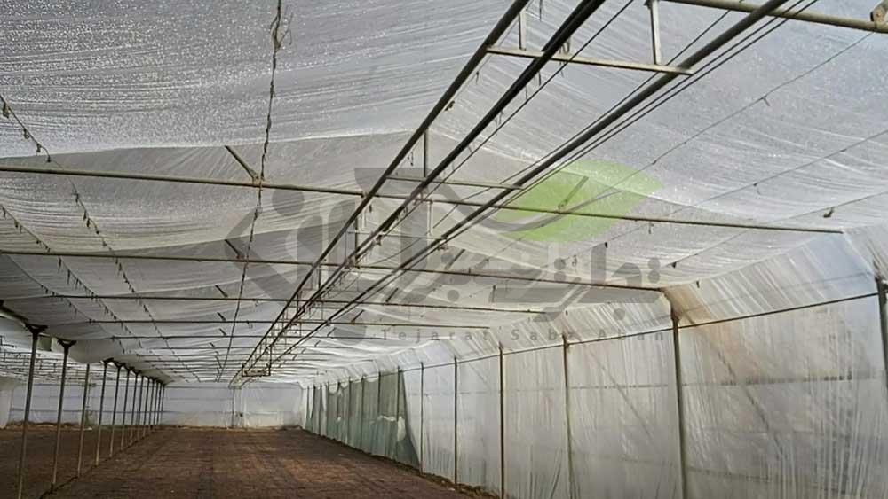 لایه پلاستیکی اضافه گلخانه برای افزایش دمای گلخانه
