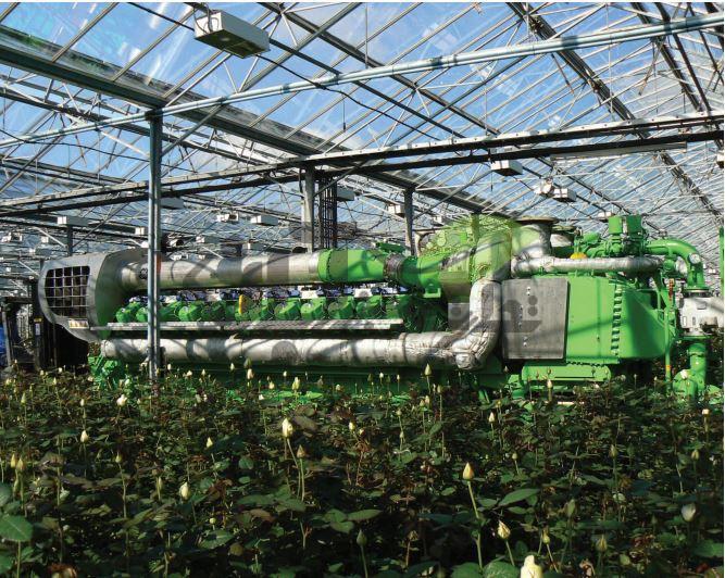 سیستم گرمایش و تولید co2 گلخانه
