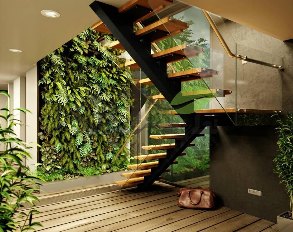 دیوار سبز نمای داخلی