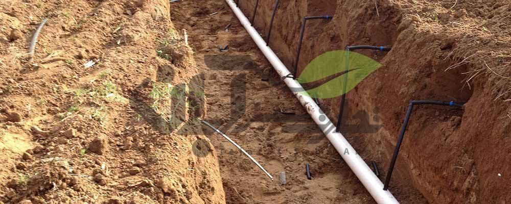 نصب آبیاری زیرزمینی زمین کشاورزی